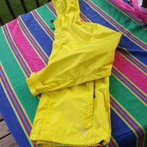 Women's Yellow Rain Jacket